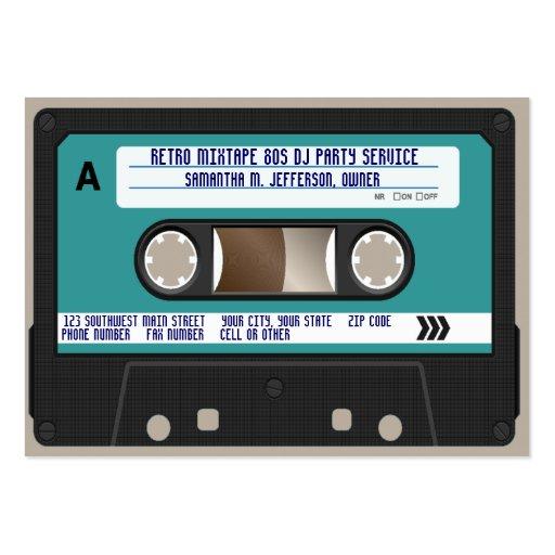 Rétro enregistreur à cassettes 80s modèles de cartes de visite