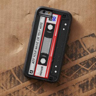 Rétro enregistreur à cassettes drôle de musique coque iPhone 6 tough xtreme