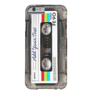 Rétro enregistreur à cassettes drôle de musique du coque iPhone 6 barely there