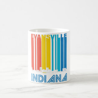 Retro Evansville Indiana Skyline Coffee Mug