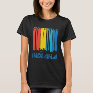 Retro Evansville Indiana Skyline T-Shirt