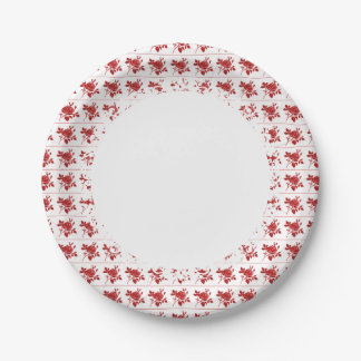 Retro-Everyday-Red-Roses-Paper-Plates--S-L Paper Plate