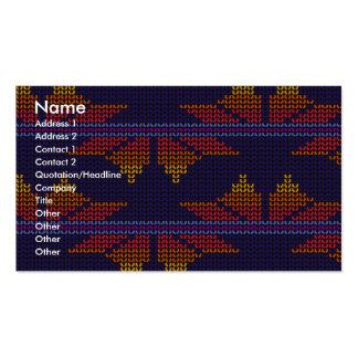 Retro Fabric-look Business Card Template