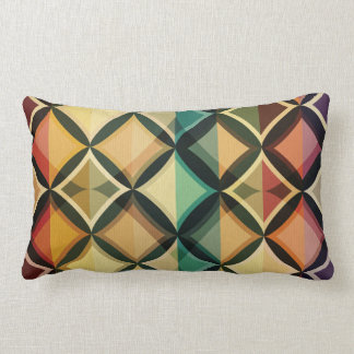Retro,fall leaf colors,vintage,trendy,pattern,cube lumbar pillow