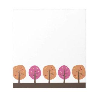 Retro Fall Trees Notepads