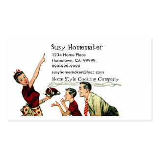 Retro Family Meal Time Business Card