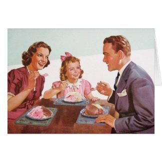 Retro Family - Nice, Normal Family, Card