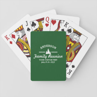 Retro Family Reunion or Trip | Rustic Pine Trees Poker Deck