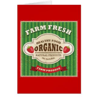 Retro Farm Fresh Poster Design Greeting Card