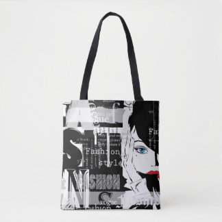 Retro Fashion All-Over-Print Tote Bag