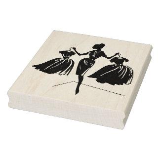 Retro Fashion Show Rubber Art Stamp
