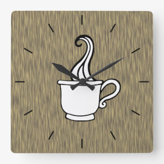 Retro Faux Wood Coffee Kitchen Wall Clock Gift