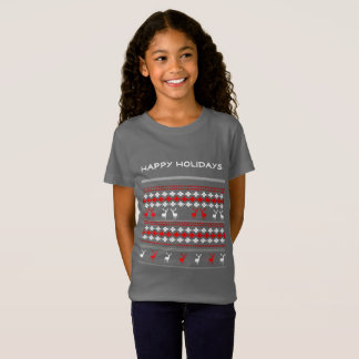 Retro Festive Christmas Holiday Ugly Jumper Style T-Shirt