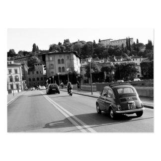 Rétro Fiat 500 à Florence Carte De Visite Grand Format