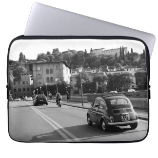 Retro Fiat 500 in Florence Laptop Sleeve