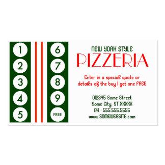 rétro fidélité de client de pizzeria cartes de visite professionnelles