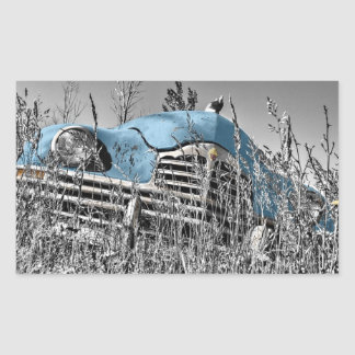 Retro  Fifties Abandoned Automobile Antique Sticker