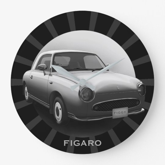 Retro Figaro Classic Car Round Wall Clock