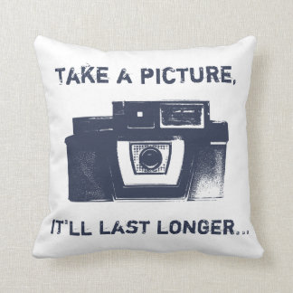 Retro Film Camera American MoJo Throw Pillow