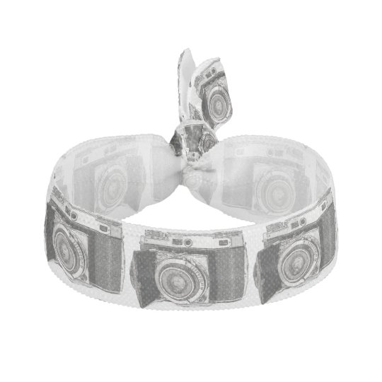 Retro Film Camera Photography Drawing Sketch Ribbon Hair Ties