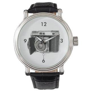 Retro Film Camera Photography Drawing Sketch Watch