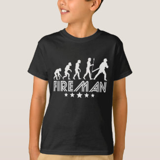 Retro Fireman Evolution T-Shirt