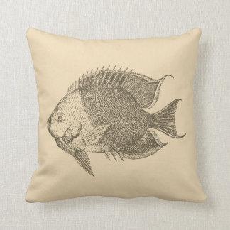 Retro fish2 throw pillow