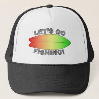 Retro Fish Surfboard Design Trucker Hat
