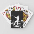 Retro Fisherman Silhouette Playing Cards