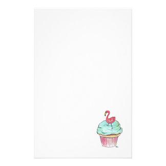Retro Flamingo Cupcake Stationery