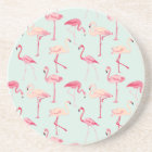 Retro Flamingo Pattern Coaster