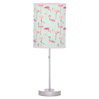 Retro Flamingo Pattern Desk Lamp