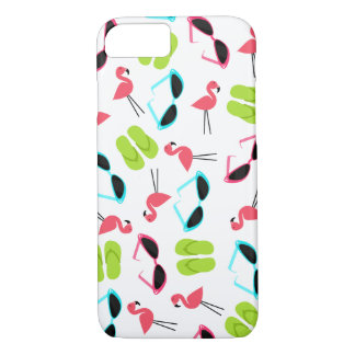 Retro Flamingo Pattern iPhone 7 case