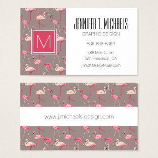Retro Flamingos Business Card