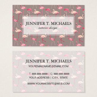 Retro Flamingos Business Card
