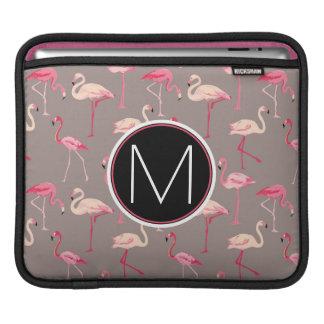 Retro Flamingos | Monogram iPad Sleeves