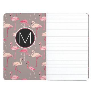 Retro Flamingos   Monogram Journal