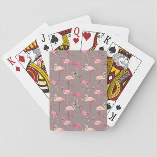 Retro Flamingos Playing Cards