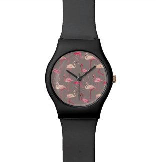 Retro Flamingos Wristwatches