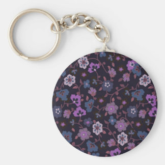 retro floral 1 keychain
