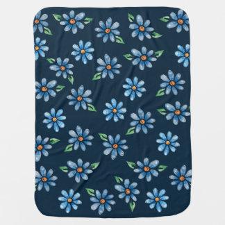 retro floral baby blanket