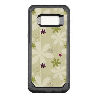 Retro Floral Background OtterBox Commuter Samsung Galaxy S8 Case