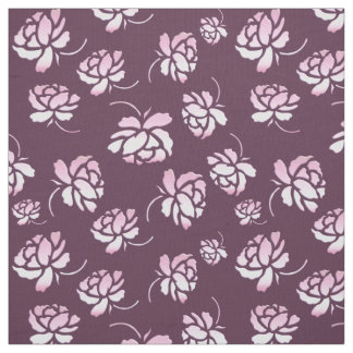 retro floral burgundy pattern. fabric