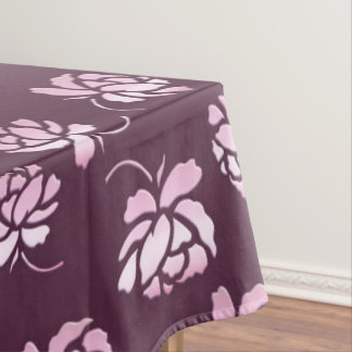 Retro floral burgundy pattern. tablecloth