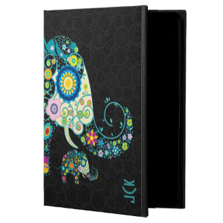 Retro Floral Elephant Black Damasks Monogram 2 Powis iPad Air 2 Case