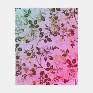 Retro-Floral-Fog-Lavender-Gray_S-M-L Fleece Blanket