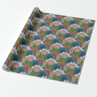 Retro Floral III Wrapping Paper