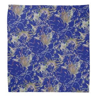 Retro floral in blue bandana