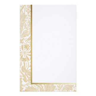 Retro Floral in Off-White - Customized Stationery