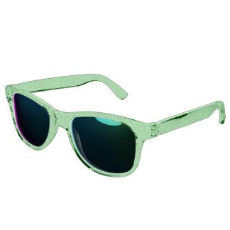 Retro Floral Lime Sunglasses